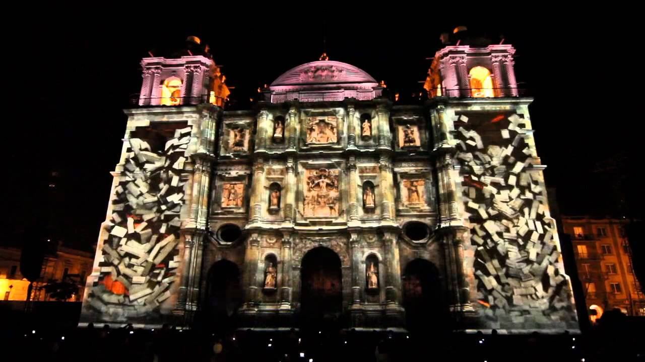 Video mapping Catedral Oaxaca
